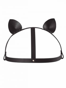 BIJOUX INDISCRETS MAZE HEAD HARNESS WITH CAT EARS