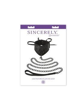SPORTSHEETS LACE POSTURE COLLAR AND LEASH