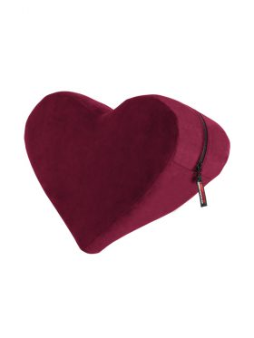 LIBERATOR MERLOT HEART WEDGE PILLOW