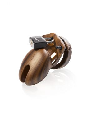 CB-X CB-6000S WOODEN PENIS CHASTITY CAGE