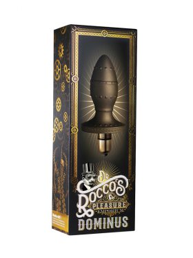 ROCKS-OFF DR ROCCO'S PLEASURE EMPORIUM DOMINUS VIBRATING BUTT PLUG