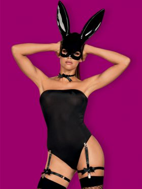 OBSESSIVE SEXY BLACK BUNNY COSTUME WITH MASK