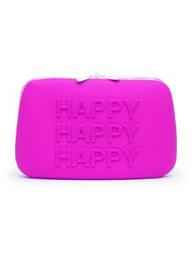 HAPPY RABBIT PURPLE LARGE STORAGE ZIP BAG
