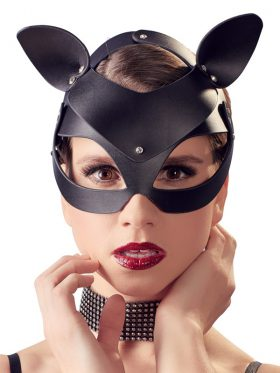Bad Kitty Cat Mask With Rhinestones