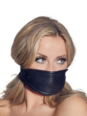 ZADO LEATHER MASK WITH SILICONE BALL GAG
