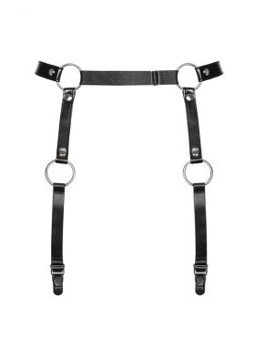 OBSESSIVE BLACK STRAP HARNESS GARTER BELT