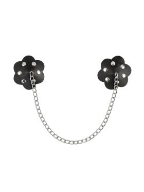 OBSESSIVE BLACK NIPPLE COVERS WITH CHAIN