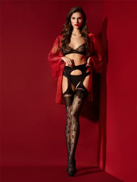 FIORE AMOROSA SUSPENDER TIGHTS