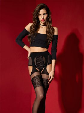 FIORE AMOUR SAUVAGE SUSPENDER TIGHTS