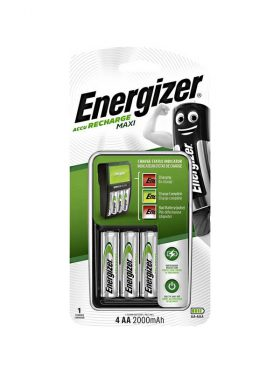 ENERGIZER MAXI AA BATTERY CHARGER + BATTERIES
